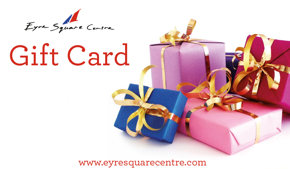 Eyre Square Gift Card Banner at Eyre Square Shopping Centre Galway