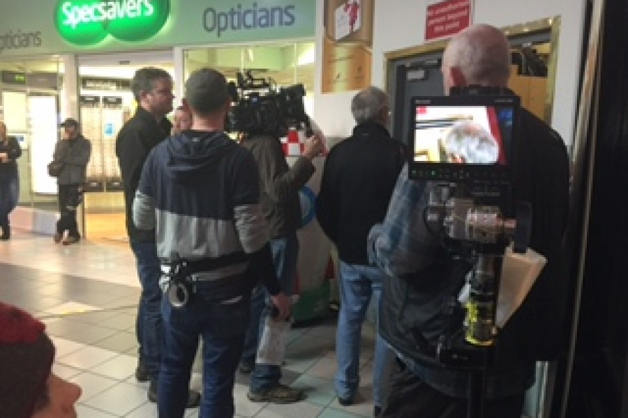 Filming of Jack Jack Taylor in Eyre Square Centre