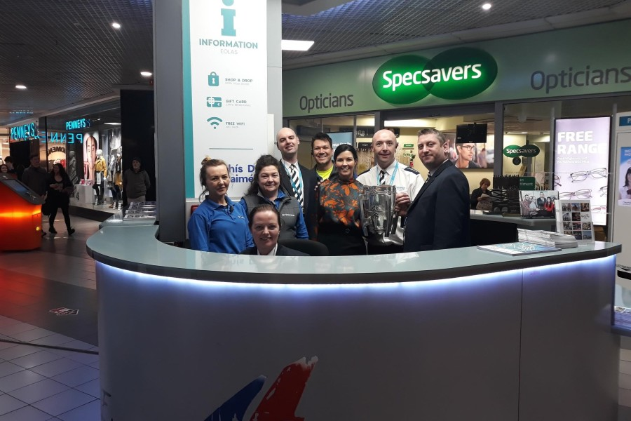 The Liam McCarthy Visiting the Eyre Square Shopping Centre