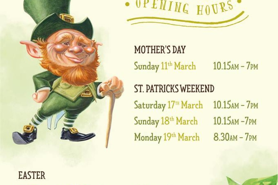Eyre Square Centre Opening Hours for St. Patrick's Weekend and Easter 2018