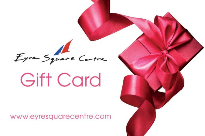 Spoil your Mum this Mothers Day with an Eyre Square Shopping Centre GIFTCARD.
