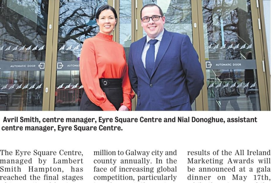EYRE SQUARE SHOPPING CENTRE SHORTLISTED FOR THE ALL-IRELAND MARKETING AWARDS 2018!