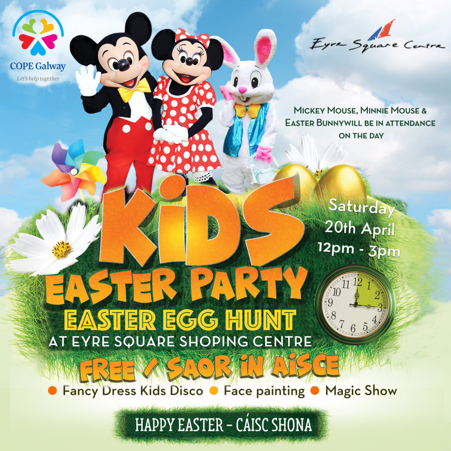 Eyre Square Shopping Centre – Easter Party 20th April 2019