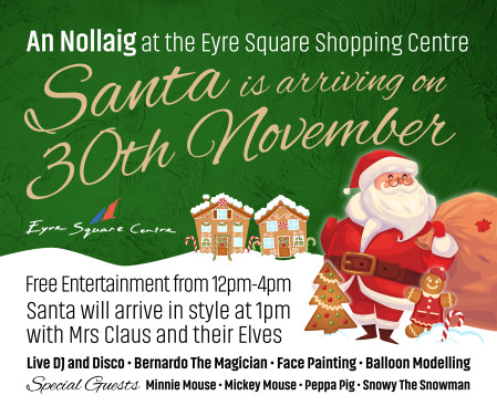 203524 EYRE SQUARE 940x788px Santa Arrival Facebook Graphic FEED POST