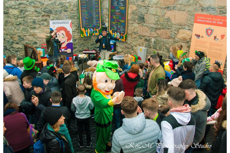 Pictures of St. Patrick's and Easter events Eyre Square Shopping Centre 2018